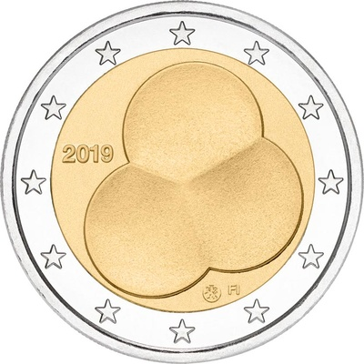 Soome 2 euro 2019 UNC - Constitution Act of Finland 1919