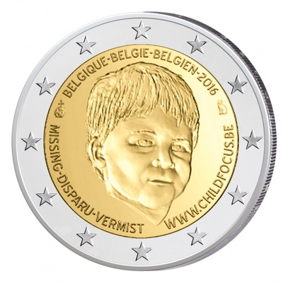 "Belgia 2 euro 2016a. ""Missing Children's Day"" UNC"