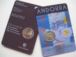Andorra 2 euro 2015 Customs Agreement UNC
