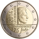 "Luksemburg 2 euro 2014 ""Independence"" UNC"