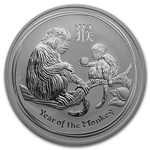 1 oz Slver Lunar Monkey 2016