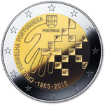 "Portugal 2 euro, 2015, ""Red Cross"" UNC"