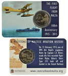 Malta First Flight 2015 Coincard with Mint Mark