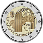 Slovakkia 2 euro 2018, 25 Years Republik, UNC