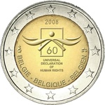 Belgia 2 euro 2008, Human rights   UNC