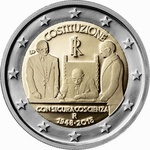 Itaalia 2 Euro 2018, 70 Years of Constitution, UNC