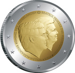 Holland 2 euro 2014 The Double Portrait, UNC