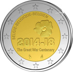 Belgia 2 euro 2014, First World War UNC