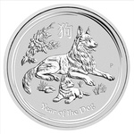 1 oz Slver Lunar Dog 2018