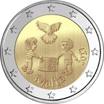 "Malta 2 euro 2017 ""The peace"" UNC"