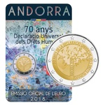Andorra 2 euro 2018 Declaration of Human Rights