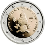 Itaalia 2 euro 2020 National Firefighters Corps UNC
