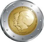 Holland 2 euro 2013 The Double Portrait, UNC