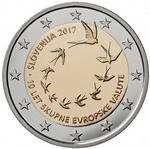 Sloveenia 2 euro 2017 Ten years euro in Slovenia unc